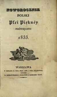 Noworocznik Polski Płci Piękney Poświęcony
