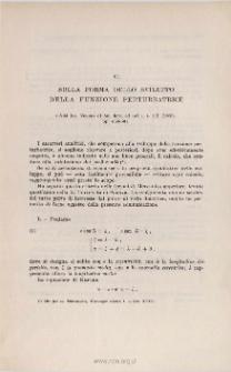 Sulla forma dello sviluppo della funzione perturbatrice. «Atti Ist. Veneto di Sc., Lett. ed Arti », t. LX (1901), pp. 653-661