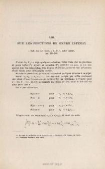 Sur les fonctions de genre infini. « Bull. des Sc. math. », s. 2, t. XXV (1902), pp. 333-335
