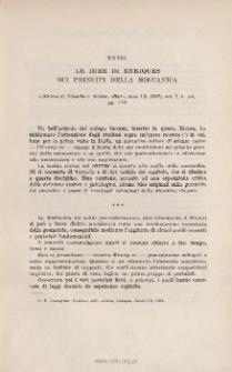 Le idee di ENRIQUES sui principi della Meccanica. « Riv. di Filosofia e Sc. affini », ano IX (1907), vol. I, n-5-6 pp. 1-10