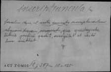Kartoteka Słownika Łaciny Średniowiecznej; inscriptiuncula - instanter