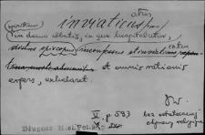 Kartoteka Słownika Łaciny Średniowiecznej; inviaticus - irrigo