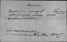 Kartoteka Słownika Łaciny Średniowiecznej; lexicon - ligatura
