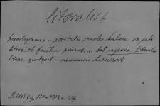 Kartoteka Słownika Łaciny Średniowiecznej; litoralis - loco
