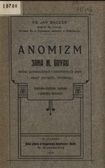 Anomizm J. M. Guyau