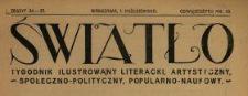 Światło : tygodnik ilustrowany literacki, artystyczny, społeczno-polityczny, popularno-naukowy 1920 N.24-25