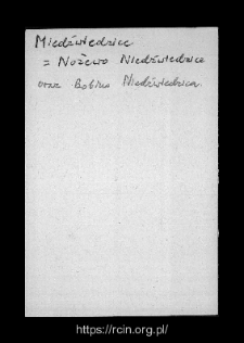 Niedźwiedzice. Files of Rozan district in the Middle Ages. Files of Historico-Geographical Dictionary of Masovia in the Middle Ages