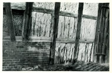 A fragment of a half-timbered barn