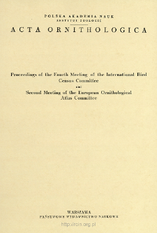 Acta Ornithologica ; t. 14 - Spis treści