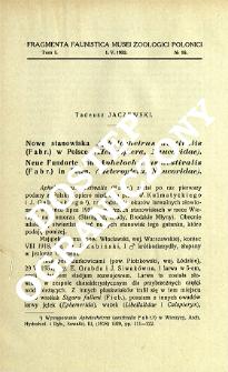Nowe stanowiska Aphelocheirus aestivalis (Fabr.) w Polsce. (Heteroptera, Naucoridae) = Neue Fundorte von Aphelocheirus aestivalis (Fabr.) in Polen. (Heteroptera, Naucoridae)