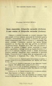 Nowe stanowisko Polycelis cornuta (Johns.) = A new station of Polycelis cornuta (Johns.)