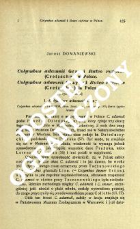 Colymbus adamsii Gray i Buteo rufinus (Cretzschm.) w Polsce = Colymbus adamsii Gray und Buteo rufinus (Cretzschm.) in Polen