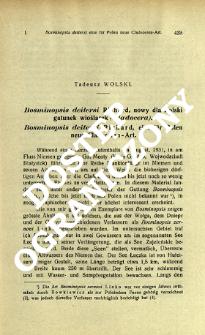 Bosminopsis deitersi Richard, nowy dla Polski gatunek wioślarek (Cladocera) = Bosminopsis deitersi Richard, eine für Polen neue Cladoceren - Art