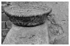 A small bread proofing basket