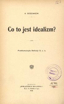 Co to jest idealizm ?