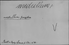 Kartoteka Słownika Łaciny Średniowiecznej; medullum - menstruus