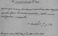 Kartoteka Słownika Łaciny Średniowiecznej; mensuatim - metaplasmus