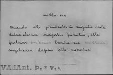 Kartoteka Słownika Łaciny Średniowiecznej; mitto - modus
