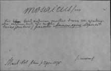Kartoteka Słownika Łaciny Średniowiecznej; mosaicus - mundifico