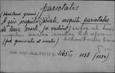 Kartoteka Słownika Łaciny Średniowiecznej; parietalis - participo