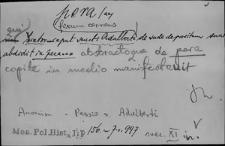 Kartoteka Słownika Łaciny Średniowiecznej; pera - perennus