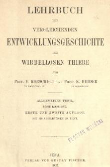 Lehrbuch der vergleichenden entwicklungsgeschichte der wirbellosen thiere