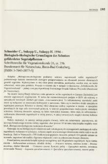 Schneider C., Sukopp U., Sukopp H. 1994 - Biologisch-ökologische Grundlagen des Schutzes gefährdeter Segetalpflanzen - Schriftenreihe für Vegetationskunde 26, ss. 356. Bundensamt für Naturschutz, Bonn-Bad Godesberg. [ISBN 3-7843-2077-5]