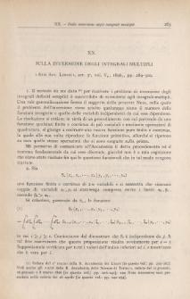 Sulla inversione degli integrali multipli