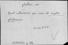 Kartoteka Słownika Łaciny Średniowiecznej; platea - poematium
