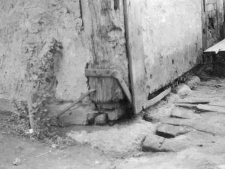 A constructional fragment of a building - the ground beam