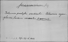 Kartoteka Słownika Łaciny Średniowiecznej; praeconium - praegravo