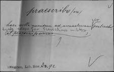 Kartoteka Słownika Łaciny Średniowiecznej; praescribo - praesum