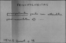 Kartoteka Słownika Łaciny Średniowiecznej; principalioritas - privo