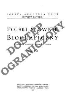Polski słownik biograficzny T. 21 (1976), Mieroszewski Sobiesław - Morsztyn Władysław, Część wstępna