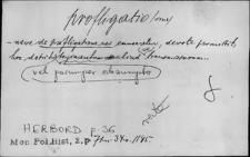 Kartoteka Słownika Łaciny Średniowiecznej; profligatio - promoneo