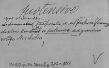 Kartoteka Słownika Łaciny Średniowiecznej; protensive - provisus