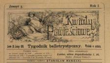 Kwiaty Powieściowe : tygodnik belletrystyczny 1886 N.5