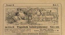 Kwiaty Powieściowe : tygodnik belletrystyczny 1886 N.8