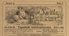 Kwiaty Powieściowe : tygodnik belletrystyczny 1886 N.9
