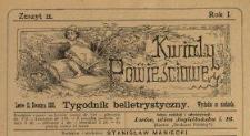 Kwiaty Powieściowe : tygodnik belletrystyczny 1886 N.11