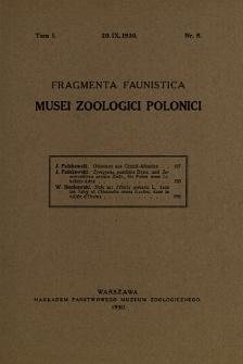 Fragmenat Faunistica Musei Zoologici Polonici ; t. 1. nr 8