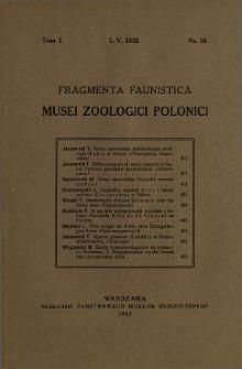 Fragmenta Faunistica Musei Zoologici Polonici ; t. 1 nr 16