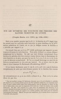 Sur les diviseurs des fonctions des périodes des racines primitives de l'unité