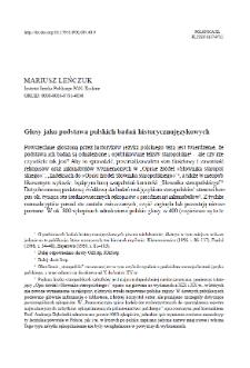 Glosy jako podstawa polskich badań historycznojęzykowych