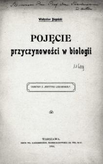 Pojęcie przyczynowości w biologii