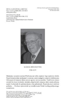 Karol Zierhoffer (1924-2019)