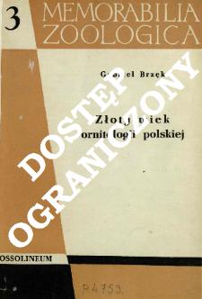 Złoty wiek ornitologii polskiej