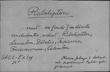 Kartoteka Słownika Łaciny Średniowiecznej; rabalipton - ratihabitio