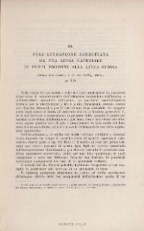 Sull'attrazione esercitata da una linea materialne in punti prossimi alla linea stessa. « Rend. Acc. Lincei », ser. 5ª, vol. XVII2 (1908)2, pp. 3-15