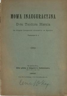 Mowa inauguracyjna Teodora Herzla na drugim Zjeździe Syjonistów w Bazylei